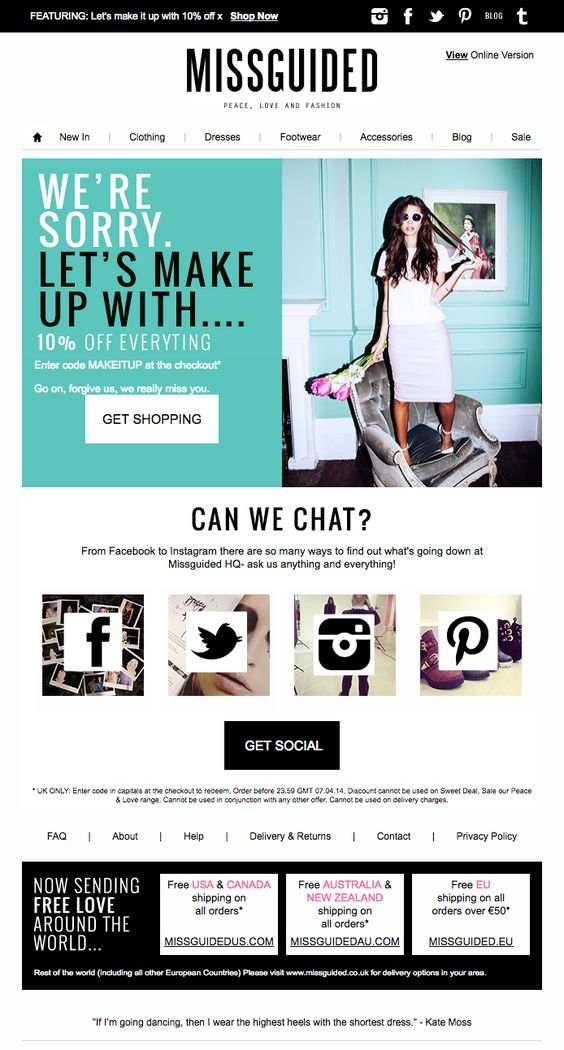 Reengagement Email - MissGuided